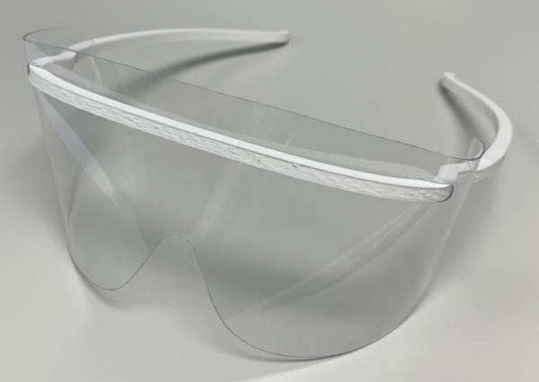 Fully assembled and ready to go ppe eye shields
